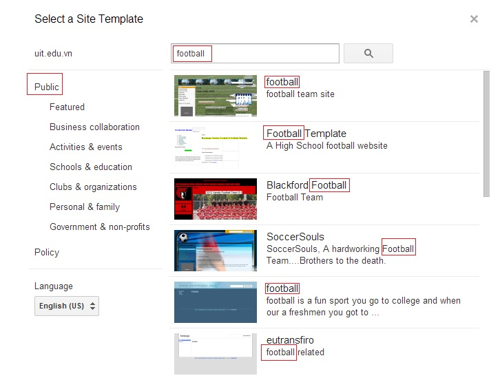 search template 2